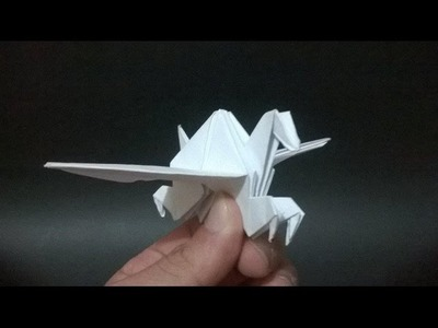 ORIGAMI: PEGASO DE PAPEL - How to make a paper pegasus