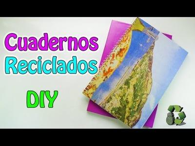 218. DIY Cuadernos reciclados [Encuadernación casera] (Reciclaje) Ecobrisa