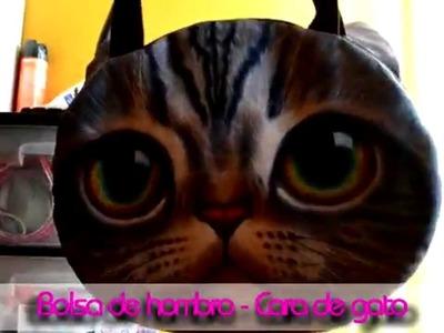 Bolsa de hombro con cara de gato - YeiBox