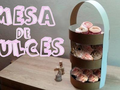 Centro de mesa vintage para cupcakes│Candy Bu