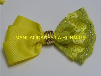 Como hacer Lazos  Elegantes para el Cabello, How To Make A Hair Bow, Ribbon bow