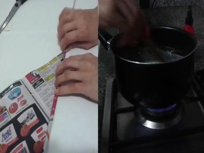 Como hacer palitos de papel y mezcla para impermeabilizar | Marlin fly