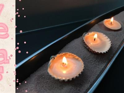 Como hacer velas con conchas