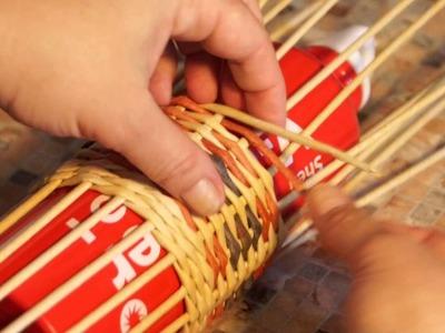 Como se tejen tubos para guardar bufandas. Parte 2.