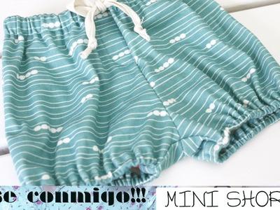 COSE CONMIGO | MINI SHORTS 2 CONFECCIÓN  0-2 años