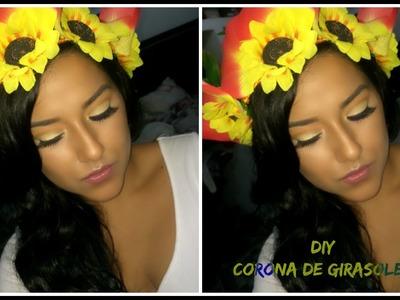 DIY: CORONA DE GIRASOLES PARA ESTE VERANO. COMO LA HICE