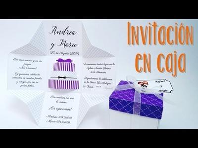 INVITACIÓN DE BODA EN CAJA #2  - TARTA 3D