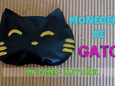 MONEDERO DE GATITO- SIN COSER- MUY FACIL