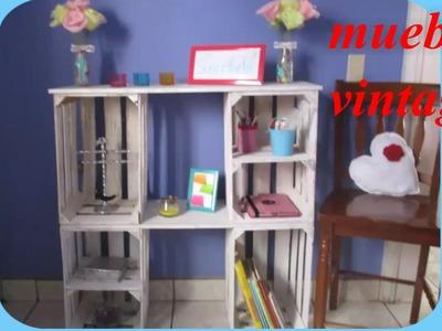 Mueble vintage (reciclando guacales)
