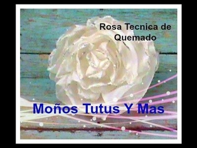 ROSA CON TECNICA DE QUEMADO Paso a Paso GARDEN ROSE BURNT TECHNIQUE Tutorial DIY How To