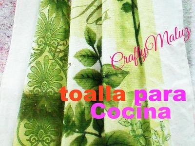TUTORIALES:♥ TOALLERO PARA COCINA
