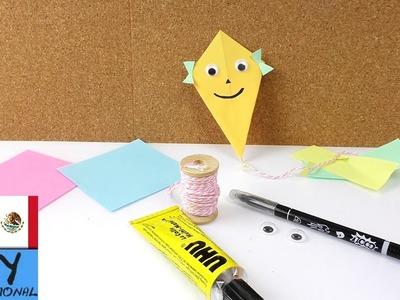 Cometas de papel | Tutorial de origami para principiantes y niños | Colores