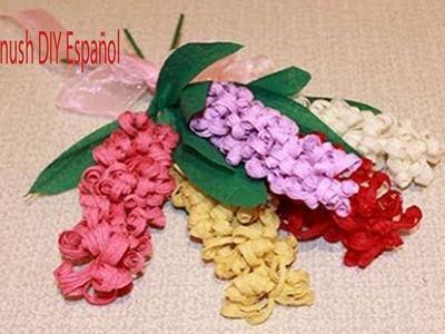 Como Hacer Flores de Papel Crepe Paso a Paso. Crepe Flores