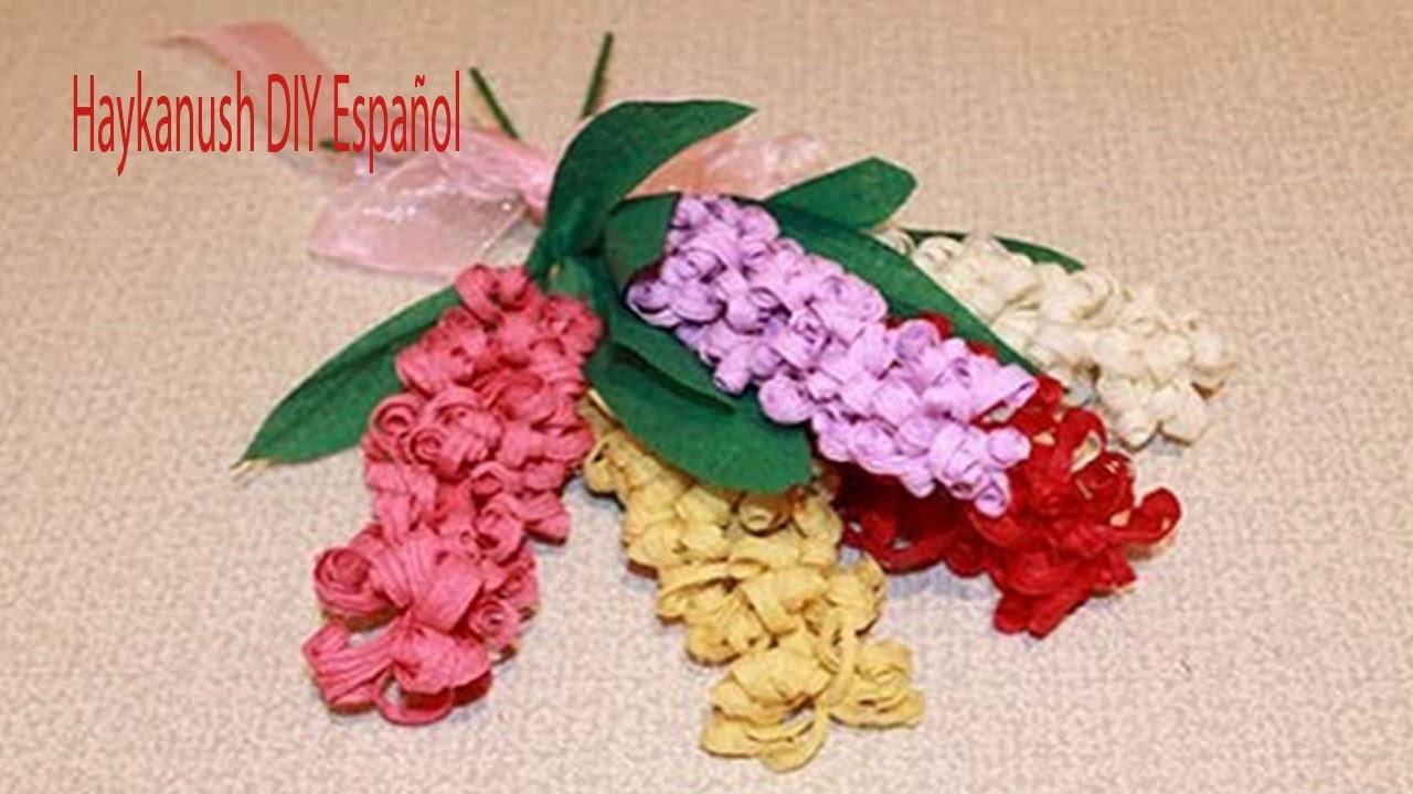 Como Hacer Flores De Papel Crepe Paso A Paso Crepe Flores - Flores-de-papel-crepe