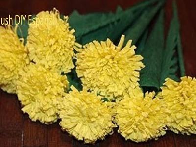 Como Hacer Flores de Papel Crepe. Faciles y Bonitas