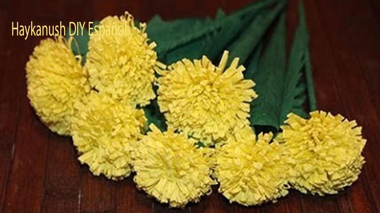 Como Hacer Flores De Papel Crepe Faciles Y Bonitas - Flores-de-papel-crepe