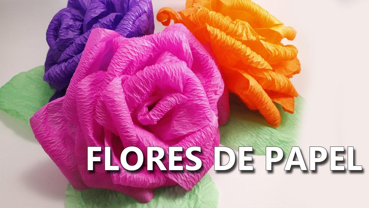 Flores cactus nopal tejido en crochet amigurumi - Como hacer rosas de papel ...