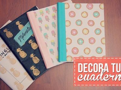 Decora tus cuadernos! Fácil y sin gastar