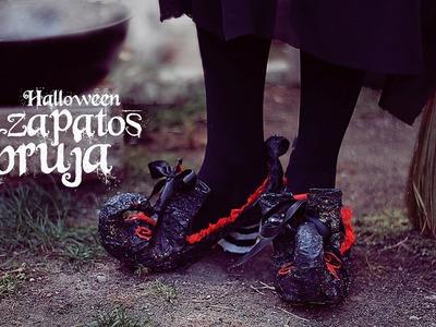 Disfraz casero de bruja  zapatos para halloween