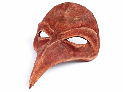"""Máscara veneciana de papel Maché """"Doctor Plaga"""""""