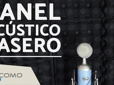Panel acústico casero para el micrófono