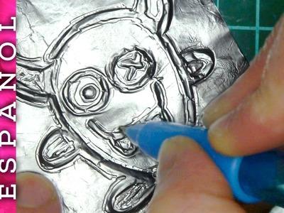 ¿Se puede repujar papel de aluminio de los bocadillos?-Experimento