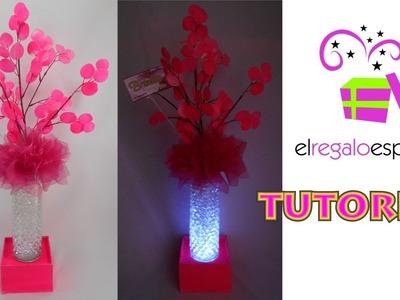 Tutorial 1 Como Hacer Centro de Mesa Luz Color Neon 15 años XV Boda El Regalo Especial