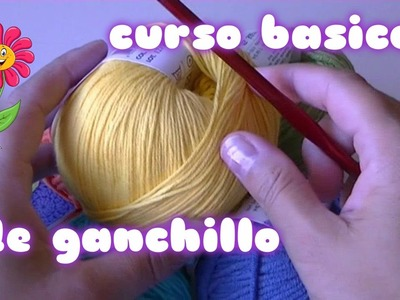 3º TUTORIAL DE PUNTO MEDIO( DOUBLE CROCHET ) CURSO BASICO DE GANCHILLO