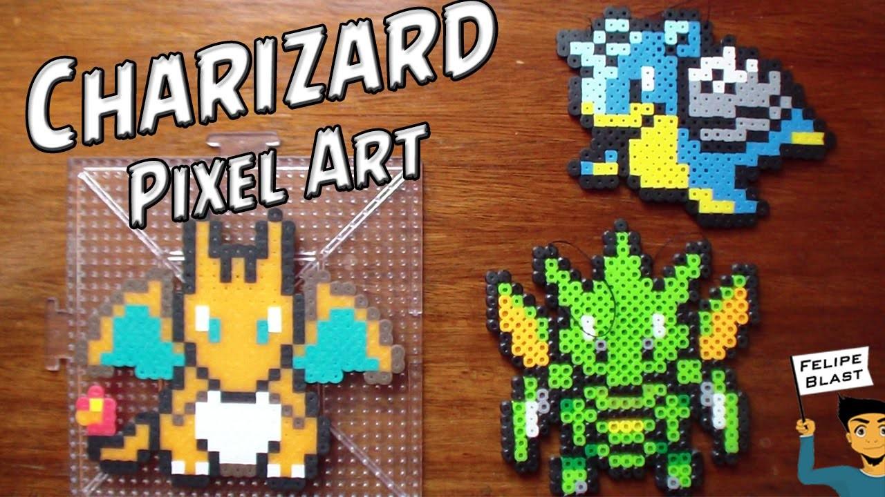 Como hacer a Charizard con Hama.Perler Beads (Charizard Pixel Art) por FelipeBlast