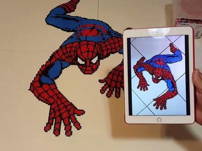 Como hacer Spiderman con Hama. perler beads.