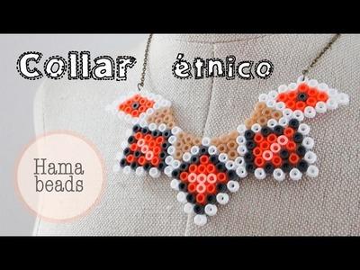 Cómo hacer un collar con hama beads. Hama bead necklace