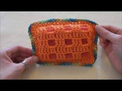 Cómo hacer un protector de esponja para  lavar platos en crochet DIY |Popirus Crafts
