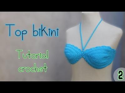 Como tejer un top bikini parte superior (2.2)