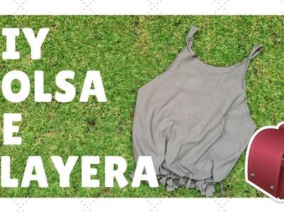♡DIY BOLSA DE PLAYERA♡