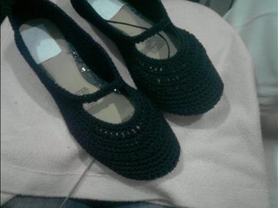 Ganchillo - Como tejer zapatos para mujer
