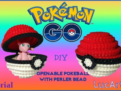 How to make an Openable Pokeball with perler bead inspired by Pokémon GO. Pokeball con perler bead