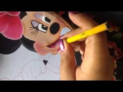 Pintura en tela cojín corazón Mickey # 5 con cony