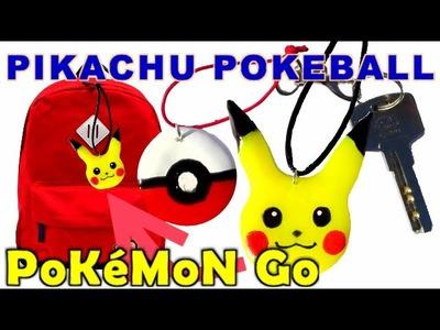 POKEMON GO Pikachu  Pokeball llavero colgante movil mochila como se hace - Manualidades Ahora
