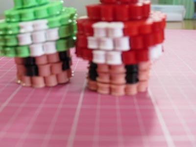 Seta de Mario Bros en 3D con Hama Beads.Perler Beads