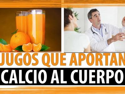 3 JUGOS QUE APORTAN CALCIO AL CUERPO | JUGOS PARA DEFICIENCIA DE CALCIO