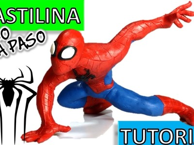 Como hacer a Spiderman.Hombre araña  de Plastilina. How to make a Spiderman with clay