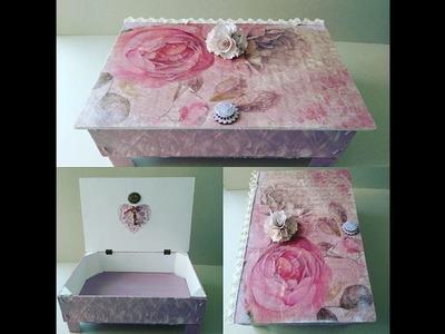 Cómo hacer una caja shabby chic con madera reciclada y decoupage