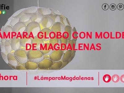 Cómo hacer una lámpara de techo con moldes de magdalenas · Handfie DIY