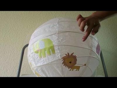 Cómo hacer una lámpara infantil de papel