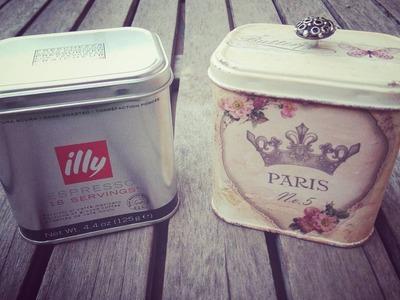 Cómo reciclar latas - decoración vintage con decoupage
