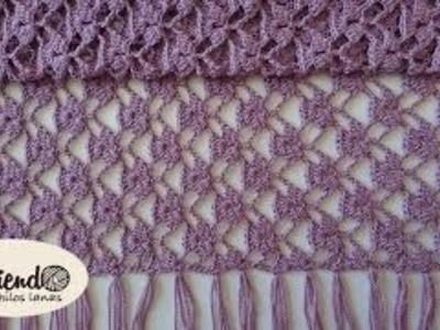 Crochet : Bufanda - Chal. Parte 1 de 3