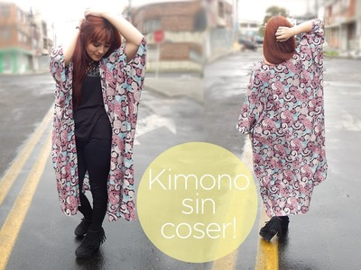 Haz un kimono sin coser! DIY