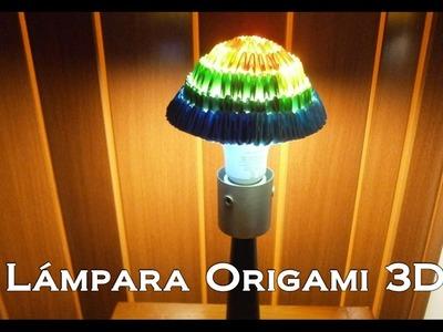 Lámpara Hongo De Papel Con Origami Modular 3D