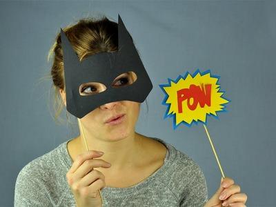 Máscara de cartulina de Batman