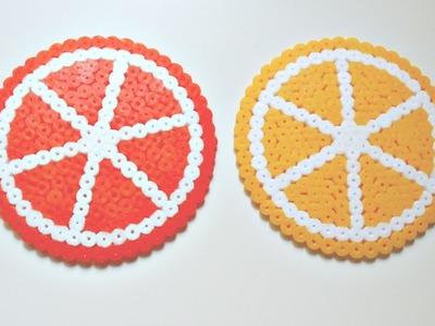 Posavasos de Frutas #1: Rodajas de Limón y Naranja con HamaBeads | Mundo@Party